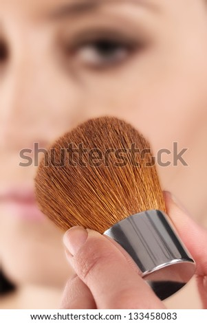 Beautiful Face Makeup close-up.