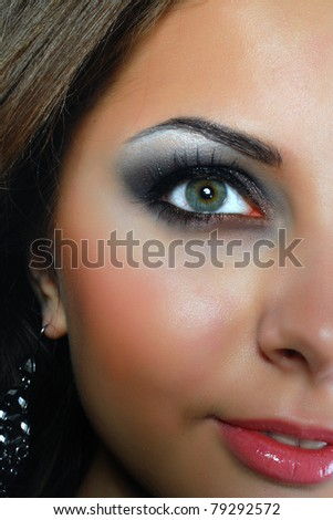Beautiful face of a glamour woman - stock photo