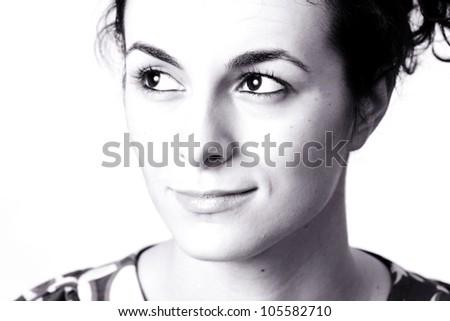 Beautiful face of woman. - stock photo