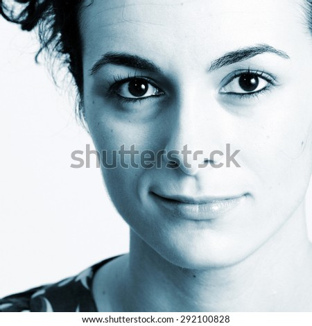 Beautiful face of woman. For more photos with this model fell free to visit my portfolio ! - stock photo