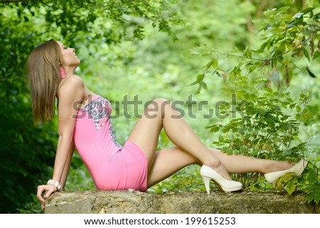 Beautiful fashion woman outdoor portrait