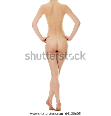 Beautiful female body line, isolated on white background - stock photo