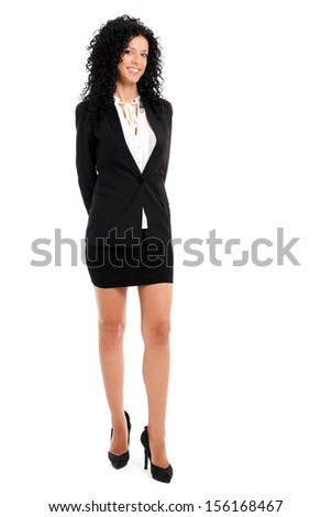 Beautiful female executive full length portrait