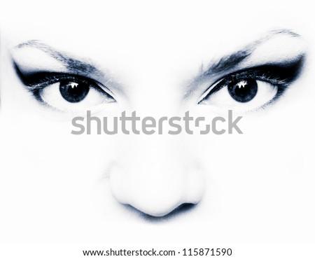 Beautiful female eye. - stock photo
