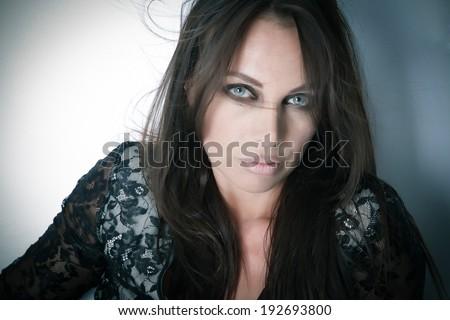 Beautiful female face - Beauty - stock photo