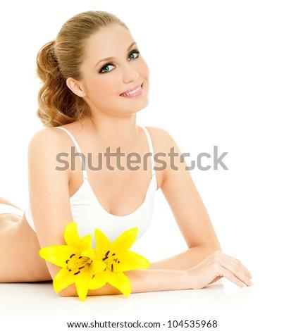 beautiful female figure - stock photo