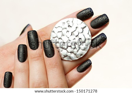 Beautiful Female Hands. Beautiful hand with perfect nail  - stock photo
