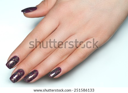 Beautiful Female Hands. Beautiful hand with perfect nail