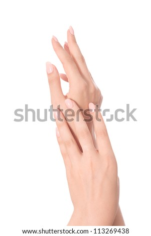 Beautiful Female Hands.Manicure concept - stock photo