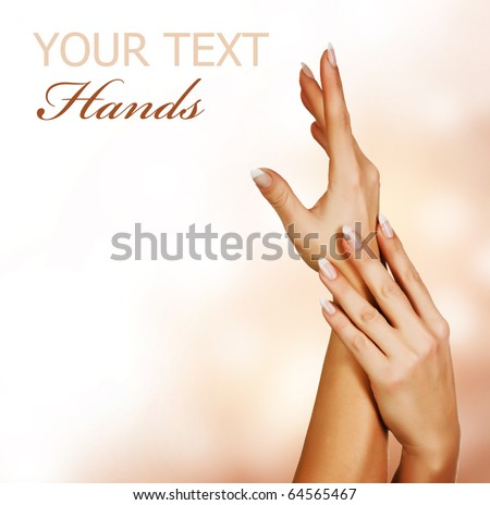 Beautiful Female Hands.Manicure concept