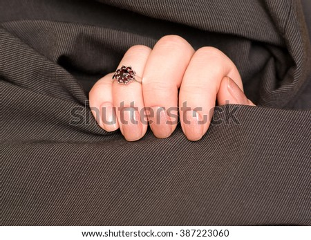 Beautiful Female Hands.Manicure concept Gold Monkey - stock photo
