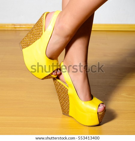 Platform Heels Stock Images, Royalty-Free Images & Vectors ...