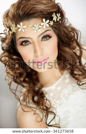 Beautiful female model - stock photo
