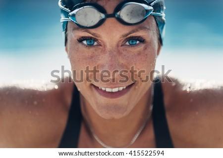 Beautiful Female Swimmer - stock photo