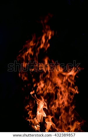 beautiful fire on a black background