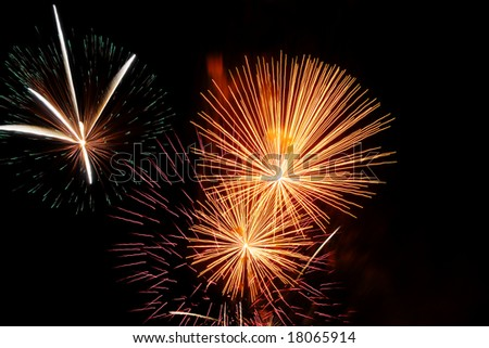 beautiful firework on black sky background