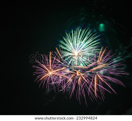 Beautiful fireworks in celebration