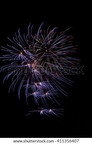 beautiful Fireworks light up the sky