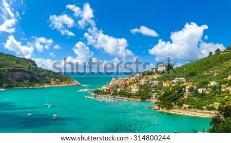 Beautiful fisherman town of Portovenere near Cinque Terre, Liguria, Italy - stock photo