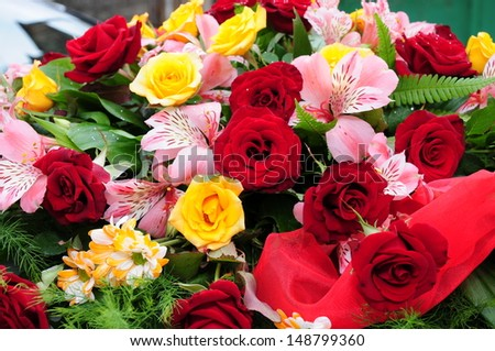 Beautiful floral arrangement - stock photo