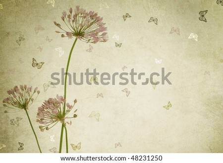 Beautiful Floral Design.Vintage styled - stock photo