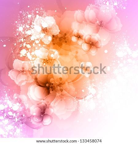 Beautiful flower background art - stock photo