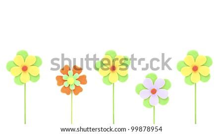 beautiful flowers  decorative paper - stock photo