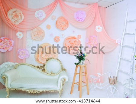 Beautiful flowers for decorations. Photo studio