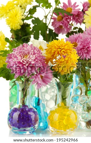 Beautiful Flowers Vases Hydrogel Close Stock Photo Edit Now