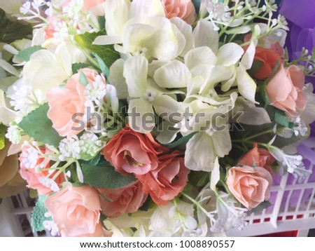Beautiful flowers, many kinds of refreshing