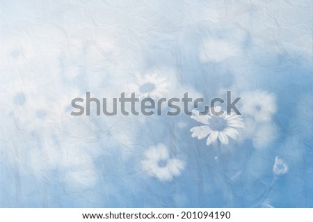 beautiful flowers with paper background - stock photo