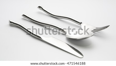 beautiful fork spoon and knife