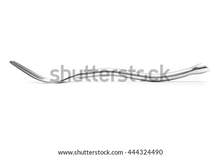 beautiful fork  Stainless steel isolated over the white background