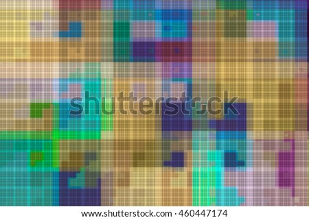 Beautiful fractal background image with a pattern of cells of different colors.
