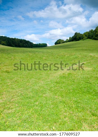 Beautiful French rural landscape in the summer