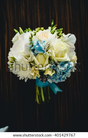 Beautiful fresh flower bouquet for bride