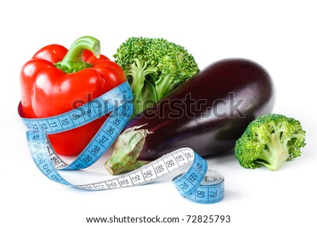 Beautiful fresh vegetables for a diet feed. - stock photo