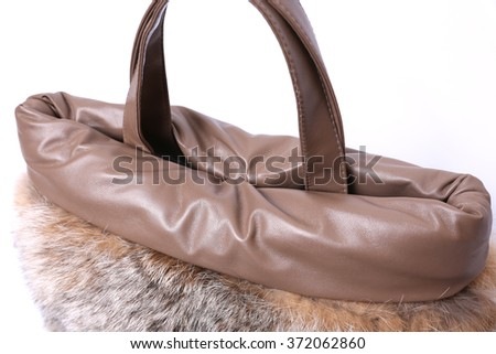 Beautiful fur bag