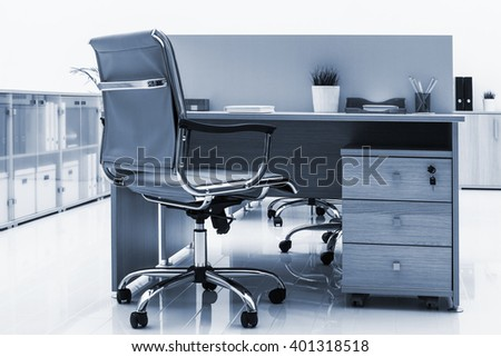 beautiful furniture in a modern office - stock photo