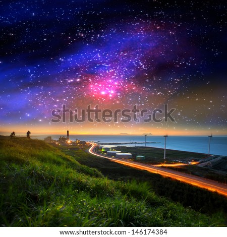 Beautiful galaxy for adv or others purpose use - stock photo