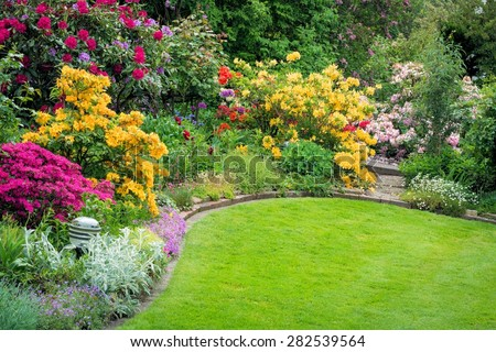 Beautiful garden in spring