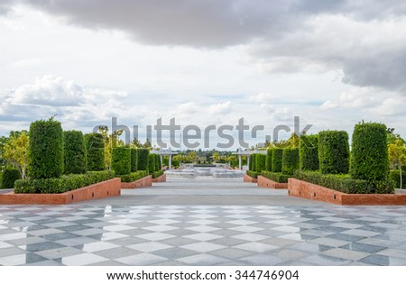 Beautiful garden plant in national park  - stock photo