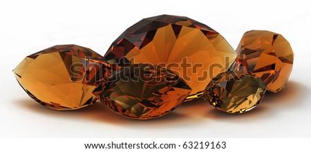beautiful gems - stock photo