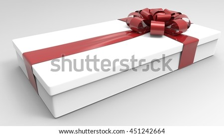 beautiful gift box with bow on light background