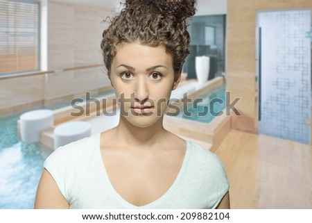 Beautiful girl at the SPA - stock photo