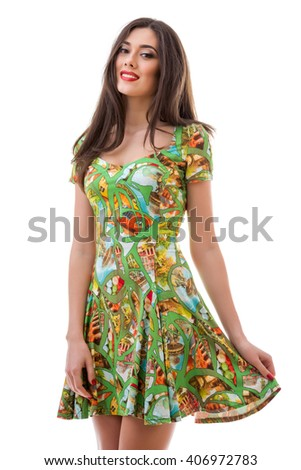 Beautiful girl in a dress
