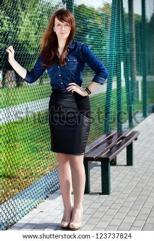 Beautiful girl is posing. - stock photo