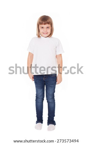 Beautiful girl kid child isolated on white
