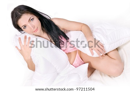 Beautiful girl on bed