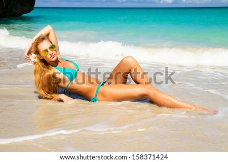 Beautiful girl relaxing  - stock photo